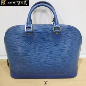 ルイヴィトンの青エピ アルマ ハンドバックM52145