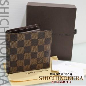 ルイヴィトンのダミエ マルコ 二つ折り財布N61675