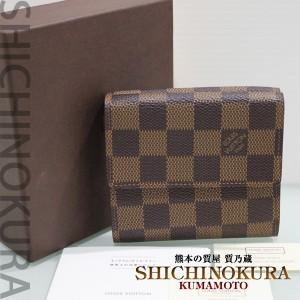 ルイヴィトンのダミエ ダブルホック財布N61652を買取 ブランド