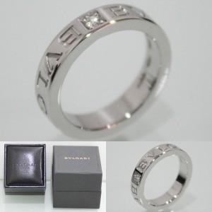 ブルガリの18WG ダイヤモンド1P