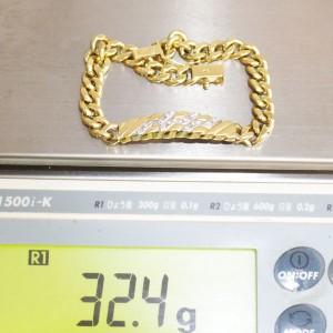 K18金(750)の喜平ブレスレットを買取